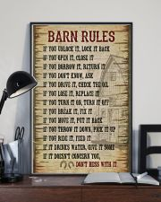 Horse Girl Barn Rules  11x17 Poster lifestyle-poster-2