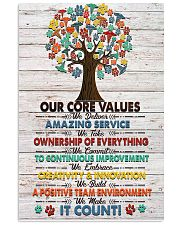 Veterinarian Our Core Values Poster 11x17 Poster front