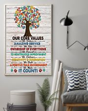 Veterinarian Our Core Values Poster 11x17 Poster lifestyle-poster-1