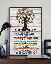 Veterinarian Our Core Values Poster 11x17 Poster lifestyle-poster-2