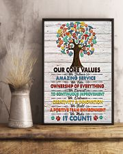 Veterinarian Our Core Values Poster 11x17 Poster lifestyle-poster-3