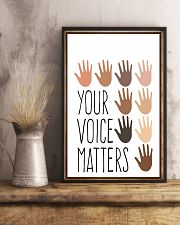 Social Worker  Your Voice Matters 11x17 Poster lifestyle-poster-3