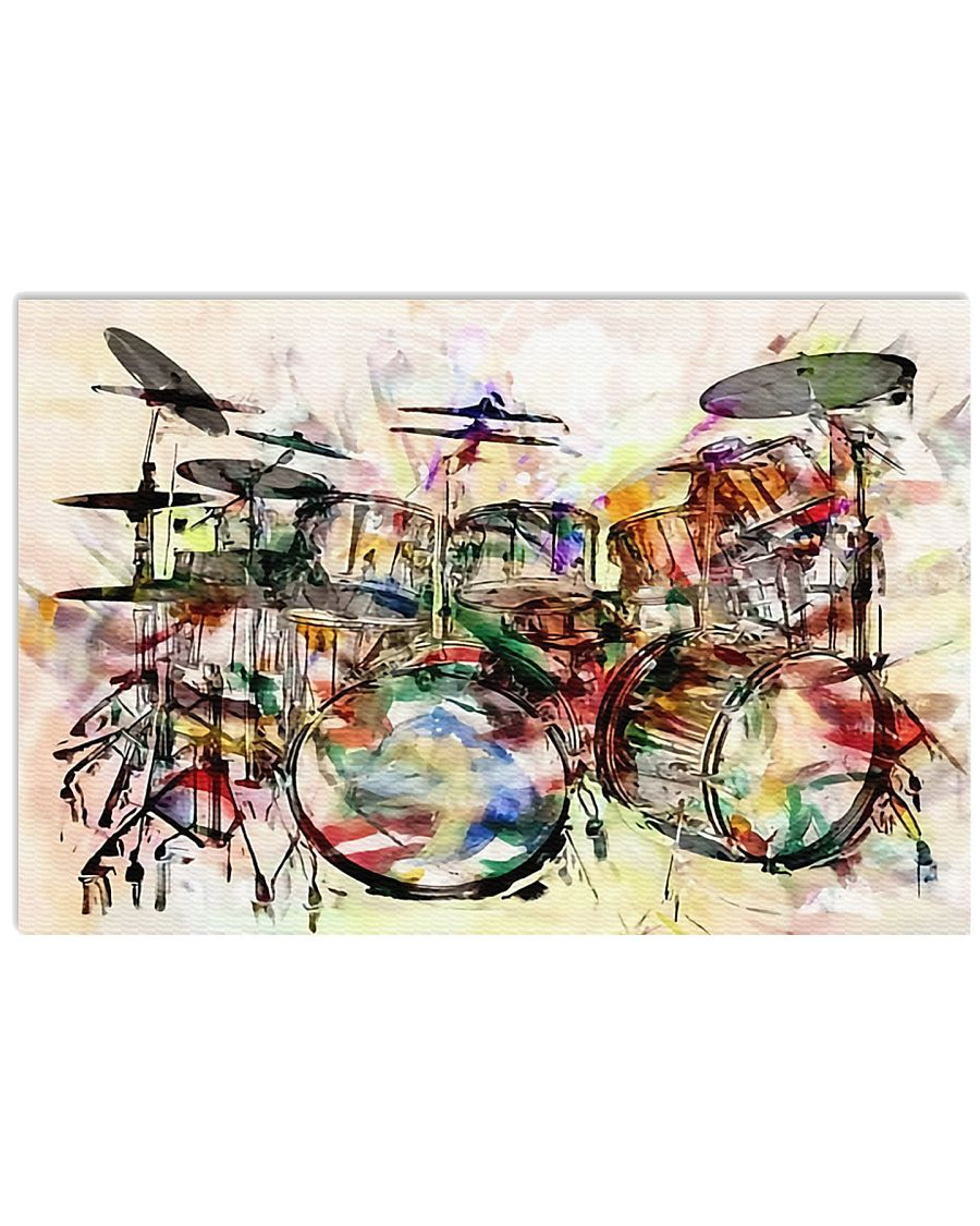 Drummer - Unique Drum Set Art 17x11 Poster