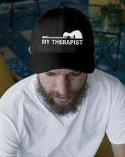 My Therapist Guitar  Embroidered Hat garment-embroidery-hat-lifestyle-06