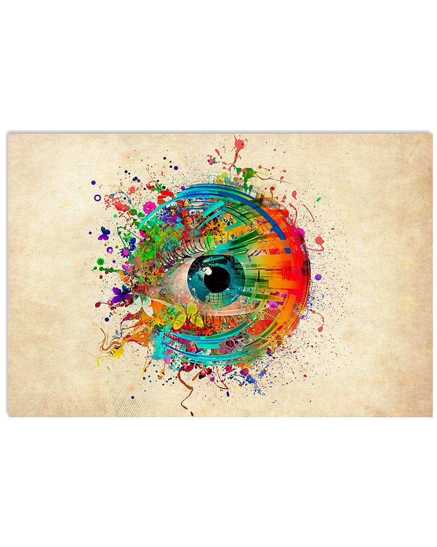 Optometrist Colorful Human Eye 17x11 Poster