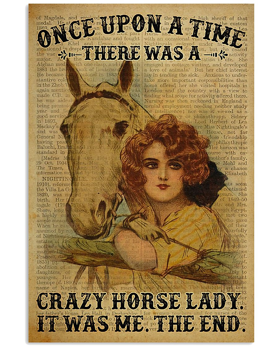 Horse Girl There Was A Crazy Horse Lady  11x17 Poster