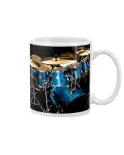 Drummer Blue Drum Set Mug tile