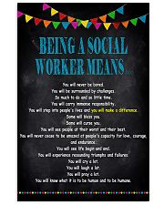 Being A Social Worker Means 11x17 Poster front