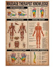 Massage Therapist Knowledge 11x17 Poster front