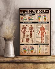 Massage Therapist Knowledge 11x17 Poster lifestyle-poster-3