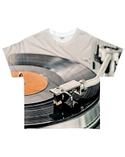 DJ Turntable Vinyl All-over T-Shirt front