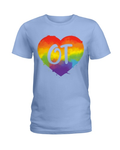 Occupational Therapist Colorful Heart