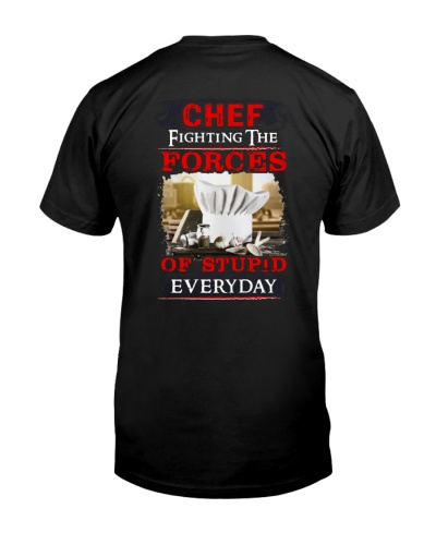 Chef Fighting the forces of stupid