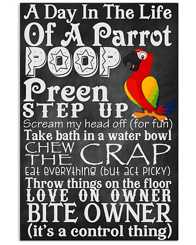 A day in the life of a Parrot Poster