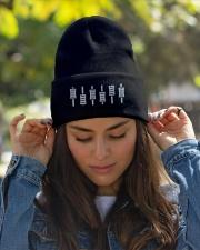 DJ - Mixer Board Sliders Knit Beanie garment-embroidery-beanie-lifestyle-07
