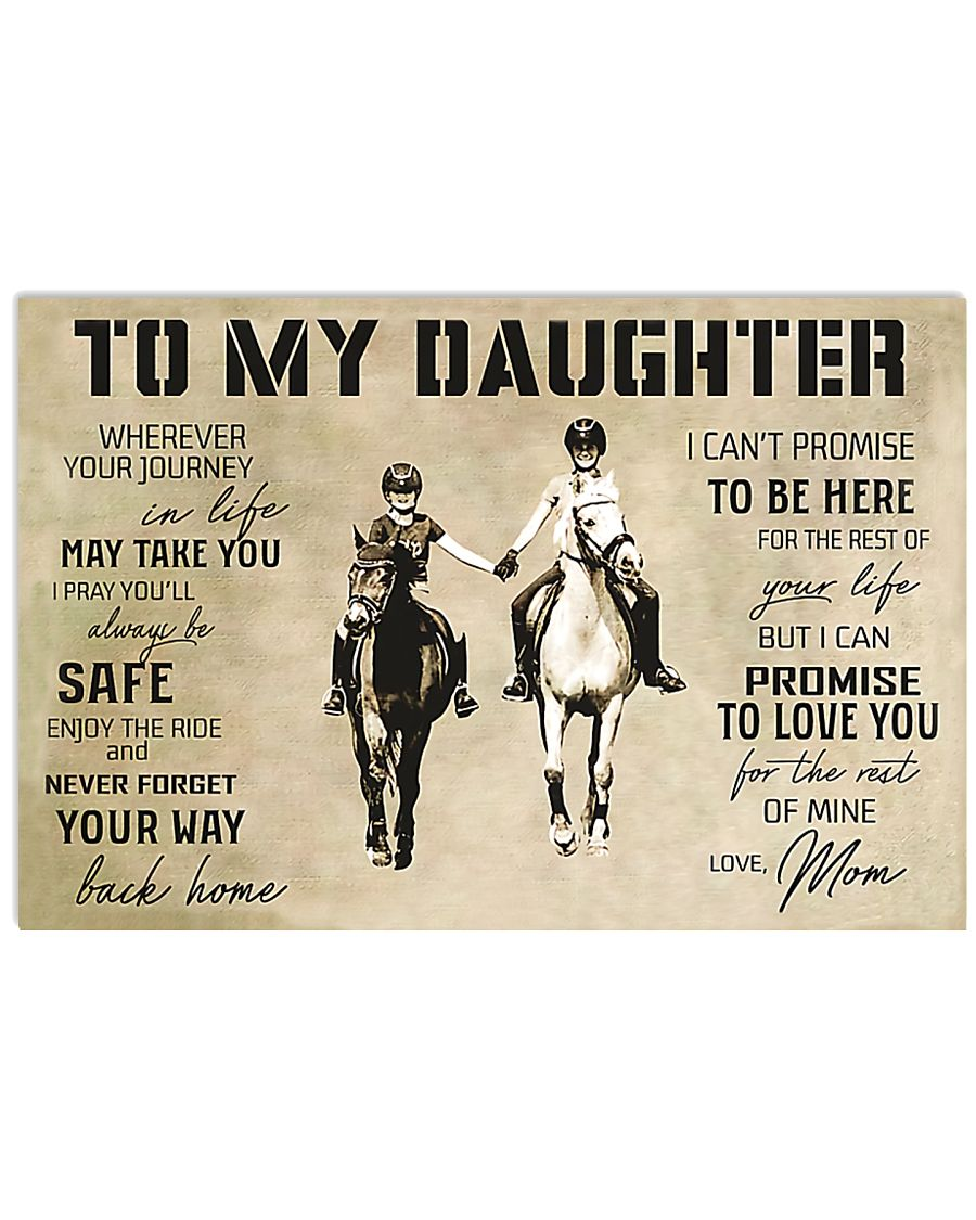 Horse Girl To My Daughter 17x11 Poster
