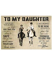 Horse Girl To My Daughter 17x11 Poster front