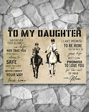 Horse Girl To My Daughter 17x11 Poster poster-landscape-17x11-lifestyle-13