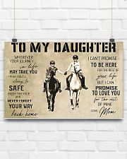 Horse Girl To My Daughter 17x11 Poster poster-landscape-17x11-lifestyle-17