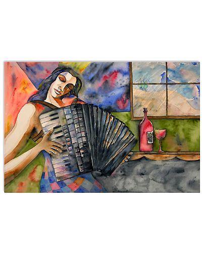 Accordionist  Abstract poster