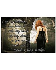 I am a redhead I was born with my heart 17x11 Poster front