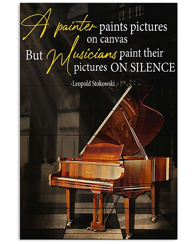 Pianist musicians paint their pictures on silence