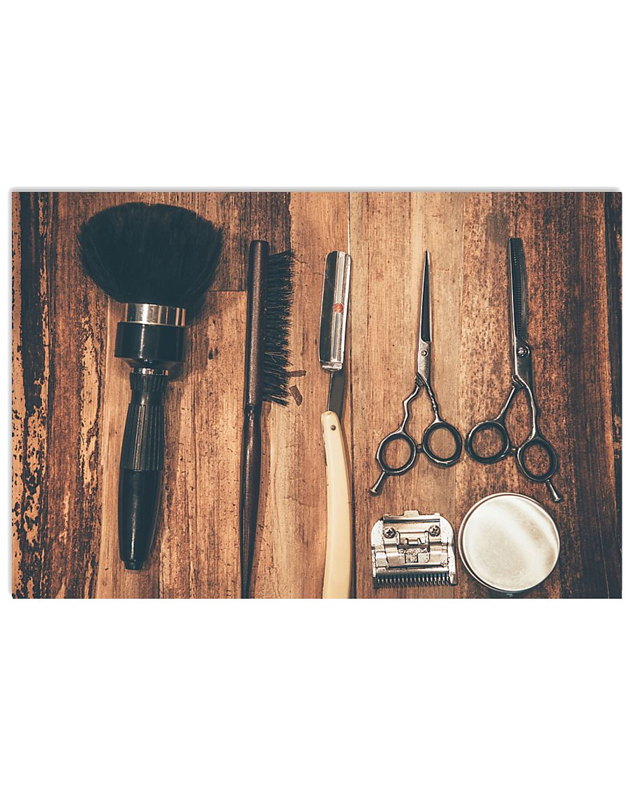 Hairdresser Unique Old Tools 17x11 Poster