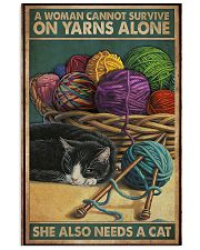 Sewing Woman Needs A Cat 11x17 Poster front