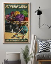Sewing Woman Needs A Cat 11x17 Poster lifestyle-poster-1