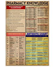 Pharmacist Pharmacy Knowledge 11x17 Poster front