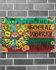Social Worker Your Life Is Worth My Time 17x11 Poster poster-landscape-17x11-lifestyle-18