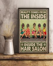 Hairdresser Beauty Comes From The Inside 11x17 Poster lifestyle-poster-3