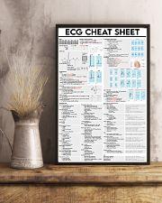 Paramedic ECG Cheat Sheet 11x17 Poster lifestyle-poster-3