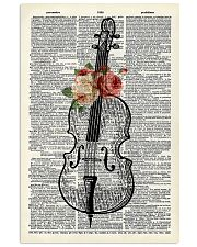 Cello and Flower 11x17 Poster front