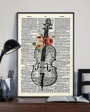 Cello and Flower 11x17 Poster lifestyle-poster-2