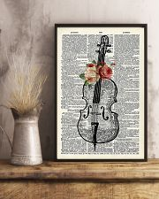 Cello and Flower 11x17 Poster lifestyle-poster-3