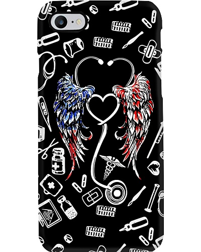 Stethoscope American Flag Wings CNA