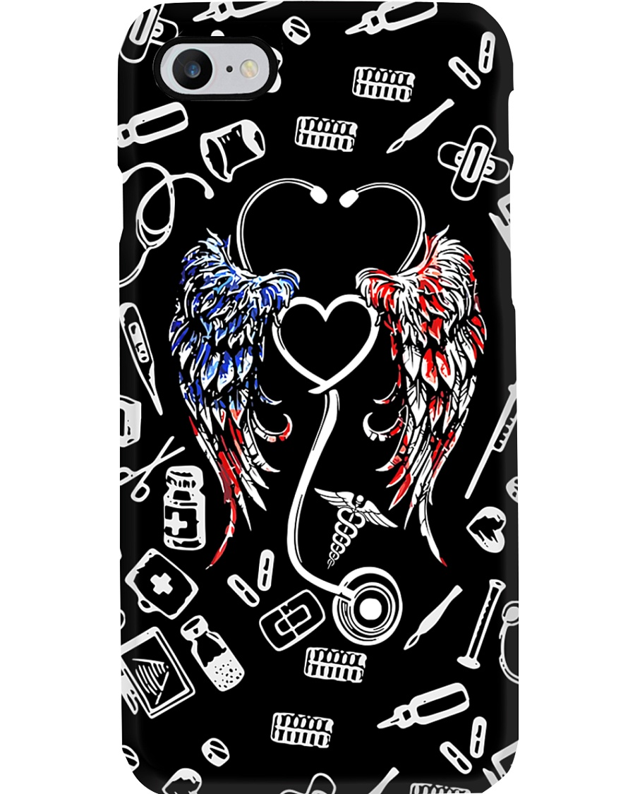 Stethoscope American Flag Wings CNA Phone Case