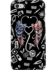 Stethoscope American Flag Wings CNA Phone Case i-phone-7-case