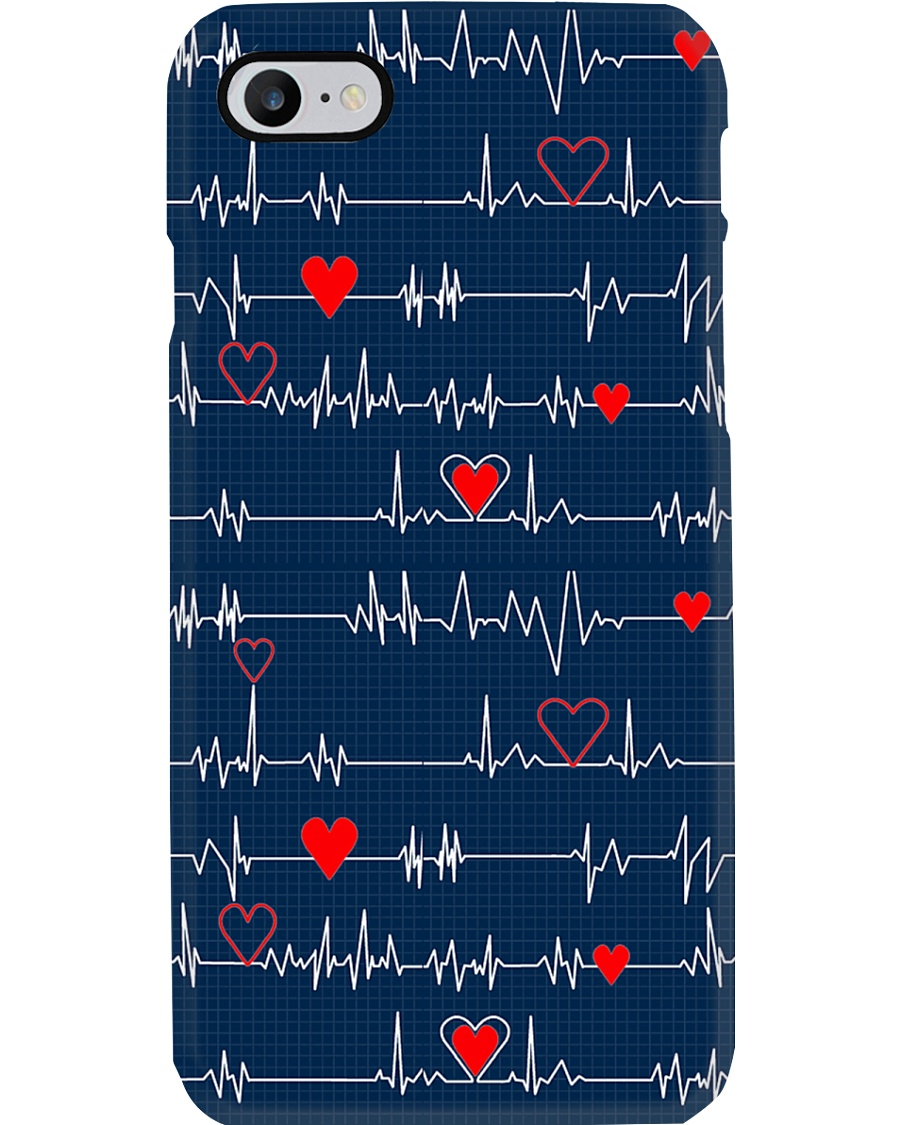Heartbeat Red Heart Cardiologist Phone Case