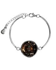 Photographer Vintage Camera Lens Metallic Circle Bracelet thumbnail