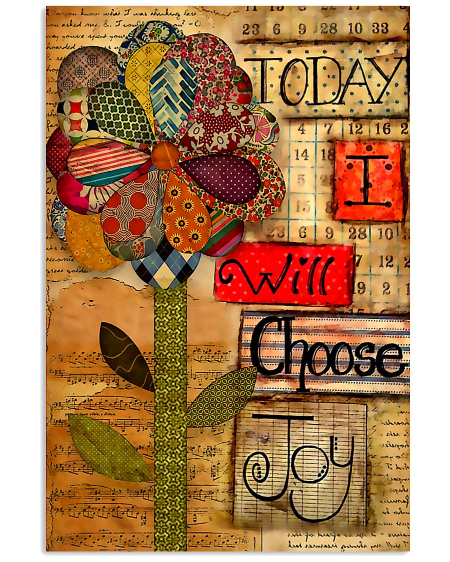Sewing Today I Will Choose Joy 11x17 Poster