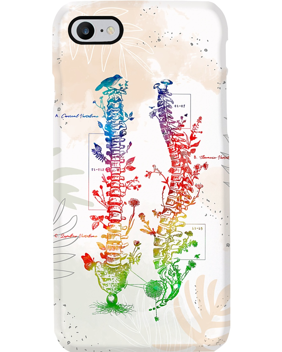 Physical Therapist Colorful Spine Phone Case