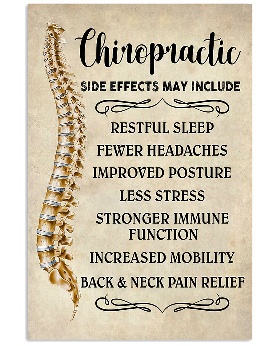 Chiropractic Side Effects Chiropractor 11x17 Poster