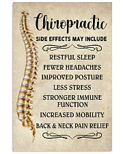 Chiropractic Side Effects Chiropractor 11x17 Poster front