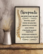 Chiropractic Side Effects Chiropractor 11x17 Poster lifestyle-poster-3