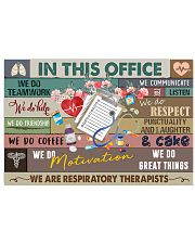 Respiratory Therapist In This Office 17x11 Poster front