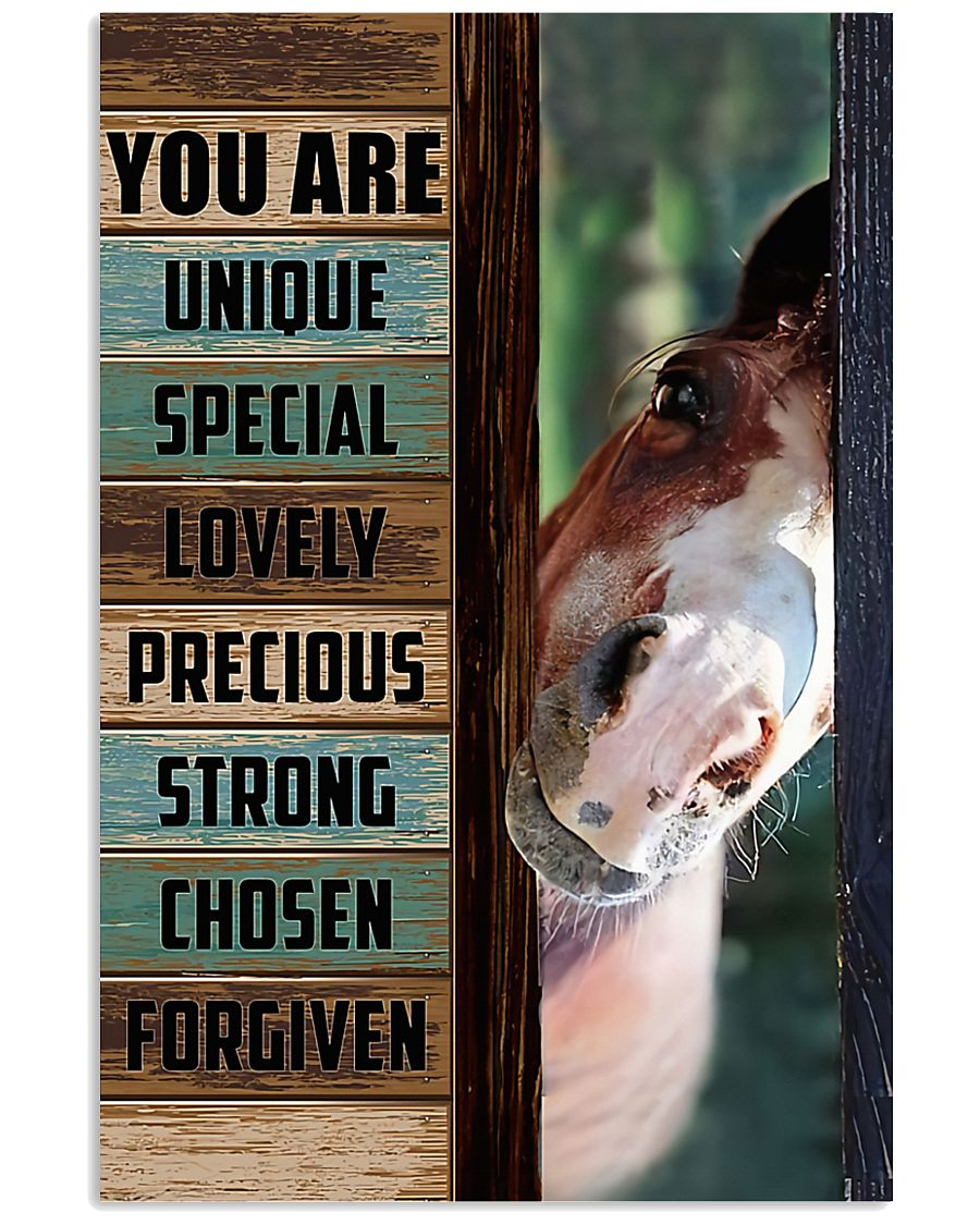 Horse Girl You are unique  11x17 Poster