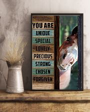 Horse Girl You are unique  11x17 Poster lifestyle-poster-3
