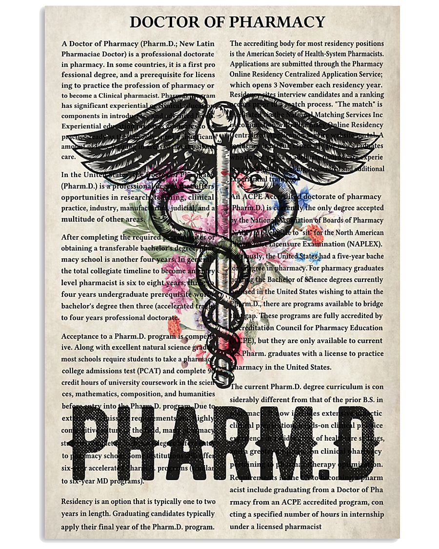 Pharmacist doctor of pharmacy 11x17 Poster